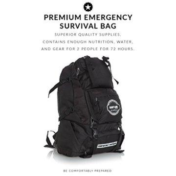 Comfort 2 - Überlebenstasche für 2 Personen - sichert eine Versorgung von 72 Stunden nach einer Katastrophe - mit hochwertigem Equipment, Essen und Trinken - 4
