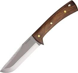 Condor STRATOS Messer 1075 Carbonstahl Hartholz Lederscheide mit Gürtelschlaufe - 1