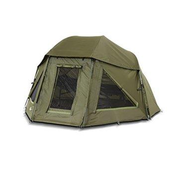 Lucx® Wolf Schirmzelt Brolly Shelter Angelzelt Karpfenzelt Zelt Bivvy Campingzelt 10.000mm Wassersäule - 2