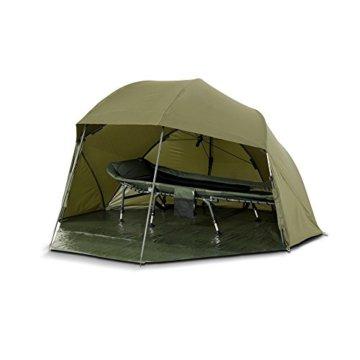 Lucx® Wolf Schirmzelt Brolly Shelter Angelzelt Karpfenzelt Zelt Bivvy Campingzelt 10.000mm Wassersäule - 4