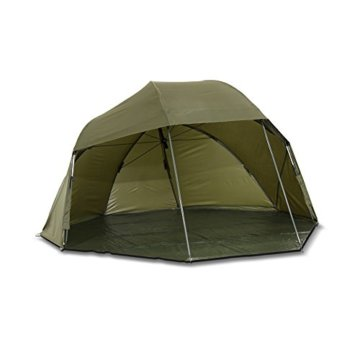 Lucx® Wolf Schirmzelt Brolly Shelter Angelzelt Karpfenzelt Zelt Bivvy Campingzelt 10.000mm Wassersäule - 5