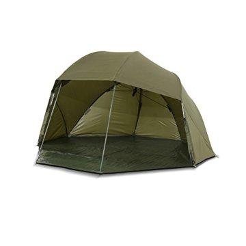 Lucx® Wolf Schirmzelt Brolly Shelter Angelzelt Karpfenzelt Zelt Bivvy Campingzelt 10.000mm Wassersäule - 6
