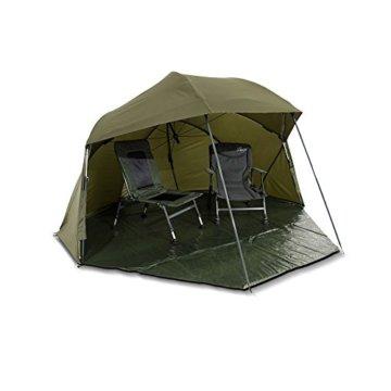 Lucx® Wolf Schirmzelt Brolly Shelter Angelzelt Karpfenzelt Zelt Bivvy Campingzelt 10.000mm Wassersäule - 7