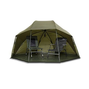 Lucx® Wolf Schirmzelt Brolly Shelter Angelzelt Karpfenzelt Zelt Bivvy Campingzelt 10.000mm Wassersäule - 8