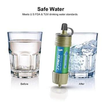 RUNACC Mini Wasser Filter mit Ballpumpe Schnelles Trinken und Rückspülen Design, 2000L - 5