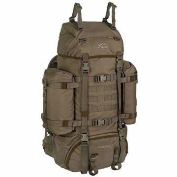 Wisport Bug Out Bag 75L für Damen & Herren + inkl. E-Book | Prepper Rucksack Frauen Männer | BOB Backpack | Go Bag | Fluchtrucksack groß taktisch | Cordura | Reindeer RAL-7013 - 1