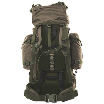 Wisport Bug Out Bag 75L für Damen & Herren + inkl. E-Book | Prepper Rucksack Frauen Männer | BOB Backpack | Go Bag | Fluchtrucksack groß taktisch | Cordura | Reindeer RAL-7013 - 5